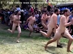 Popular nudist race footage in slow motion