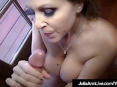 Blow Job Queen Milf Julia Ann Gets A Load of Cum!