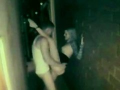 Amateur fuck in alley out of club