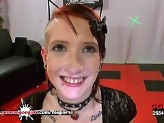 Little Linda the sex Kitty gets her pretty face cum covered - German Goo Girls
