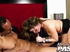 Alexxxa May Sucks On A Black Cock