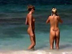 Aussie Nudist girls go Naked in Bali