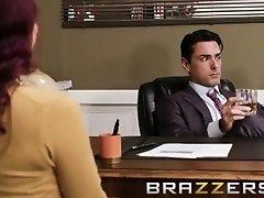 Hot Big Tit Redhead Seduces Her Boss - Brazzers