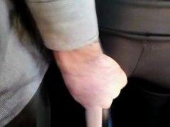 Guy groping woman's ass