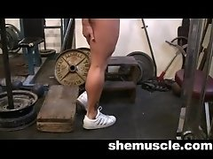 andrea working out muscles