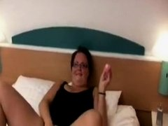 Horny homemade Solo, Brunette adult video