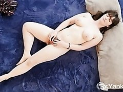 Chesty Yanks Raven Snow's Clit Flicking Action