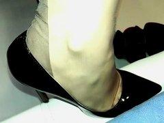 Crazy homemade Foot Fetish porn scene