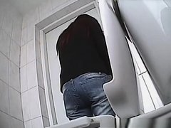 Nice ass woman peeing