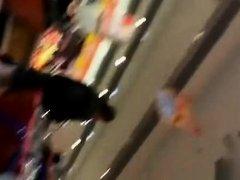 Pink panties filmed in supermarket