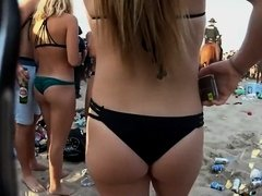 Confused girl's ass just got grabbed