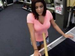 Latina babe Mia banged in the pawnshop