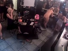 Hot sexy strippers in change room