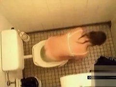 Hidden cam compilation of women urinating in the public WC