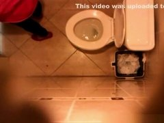 Spy camera secretly installed in toilet ceiling