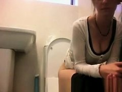 Girl in the bathroom hidden camera